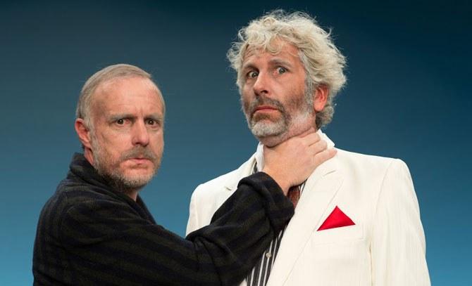 Dirk Stermann und Christoph Grissemann sind die Sonny Boys. Gastspiel des Rabenhof Wien an der Bühne Baden. © Rabenhof / Udo Leitner
