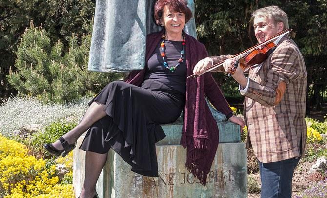 Ein Duoabend Violine und Klavier mit Rezitation mit Elisabeth Eschwé und Arkadi Winokurow. Anlässlich des 100.Todestages von Kaiser Franz Joseph. © Bühne Baden
