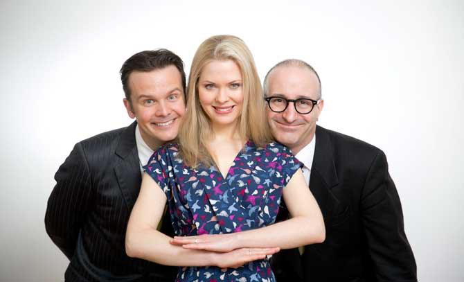 In der Matinee mit Katrin Fuchs, Andreas Sauerzapf und Robert Kolar geht es ins Tröpferlbad. © Bettina Neubauer-Pregl