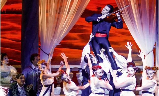 Das Ballett der Bühne Baden huldigt dem großen Meister (getanzt von Igor Prokopenko)
