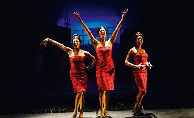 "Starkes Trio: ""The Dynamits"" Rubini Zöllner, Kudra Owens und Gina Marie Hudson"
