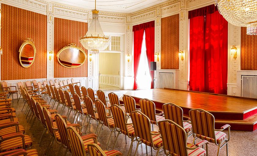 Ein Raum für Kleinkunst, Kabarett, Kammermusik, Matineen, Soireen, Publikumsgespräche und Night-Lines.  © Bühne Baden
